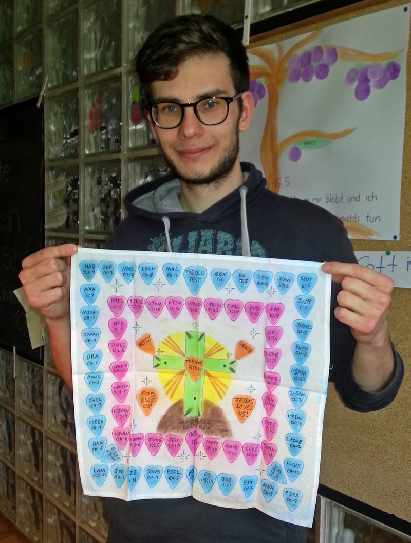 "Albert's ""handkerchief art"" found a new owner."